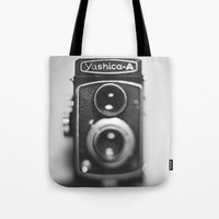Yashica-A Black And Whit… Tote Bag