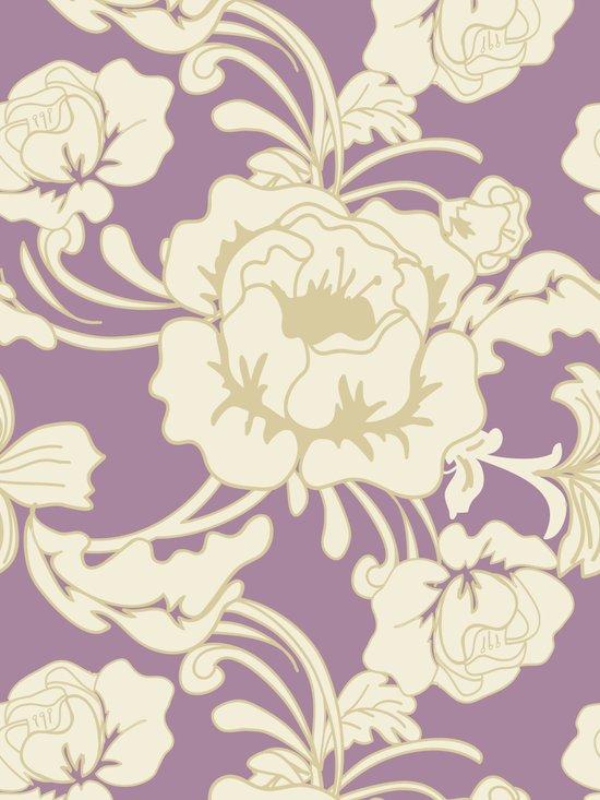 Rose & Purple Art Print