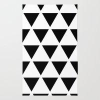 Sleyer Black On White Pa… Rug