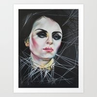 Glassy eyes Art Print