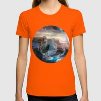 Island Womens Fitted Tee Orange SMALL