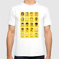 Community Guess Who Face… Mens Fitted Tee White SMALL