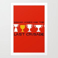 Indiana Jones and the Last Crusade Minimal Movie Poster Art Print