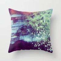 Holga Flowers V Throw Pillow