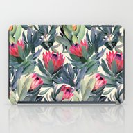 iPad Case featuring Painted Protea Pattern by Micklyn