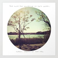 salt water is the cure for anything. Art Print