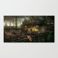 Kodran Mess Hall Canvas Print