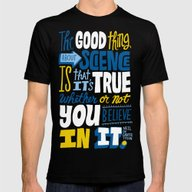 The Good Thing About Sci… Mens Fitted Tee Black SMALL