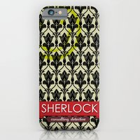 iPhone & iPod Case featuring Sherlock Poster 1 by Fabio Castro