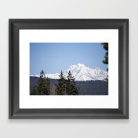 Eastern Washington Snow Obstacles  Framed Art Print