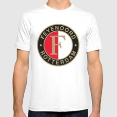 Feyenoord Rotterdam Mens Fitted Tee White SMALL