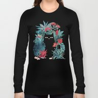 Long Sleeve T-shirt featuring Popoki by Littleclyde