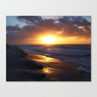 Sunrise Over Atlantic Ocean Canvas Print