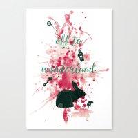 Off To Wonderland Canvas Print