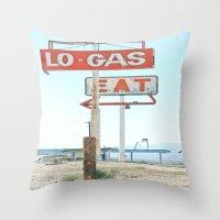 Town Pump Throw Pillow