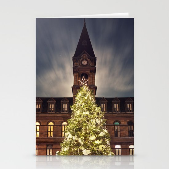Christmas Tree at City Hall Stationery Card