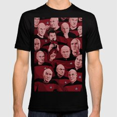 Picard Day Mens Fitted Tee SMALL Black