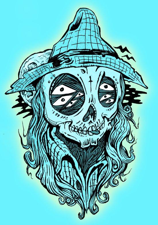 scared crow Art Print