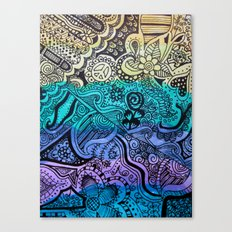 Watercolor Doodle Canvas Print