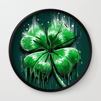 Melting Luck Wall Clock