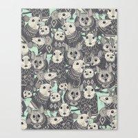 Sweater Mice Mint Canvas Print