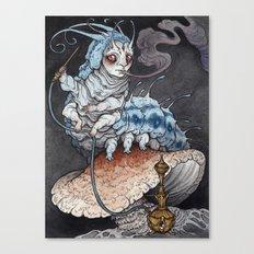 Absolem the Blue Caterpillar art print Canvas Print