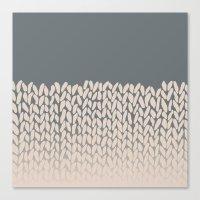 Half Knit Ombre Nat Canvas Print