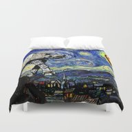 Starry Night Versus The … Duvet Cover