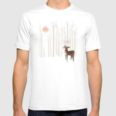 Reindeer of the Silver Wood SMALL White Mens Fitted Tee