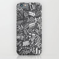 Typography Pattern iPhone 6 Slim Case