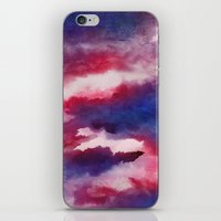 Clouds - abstract watercolor 01 iPhone & iPod Skin