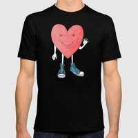 A Heart With Sneakers On Mens Fitted Tee Black SMALL