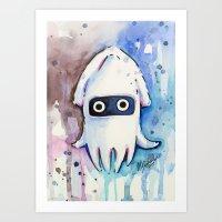 Blooper Painting Mario A… Art Print