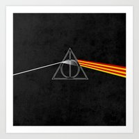 the darkside of the deathly hallows Art Print