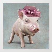 Miss Piggy Canvas Print
