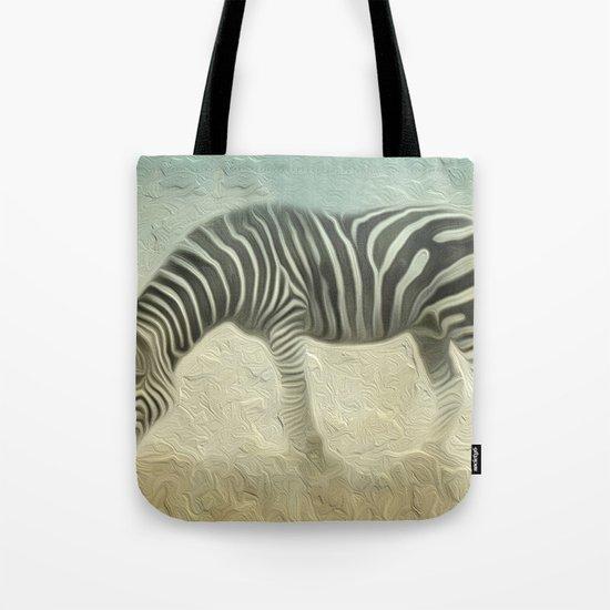 Zebra grazing Tote Bag