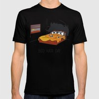 Bed Hair Day Mens Fitted Tee Black SMALL