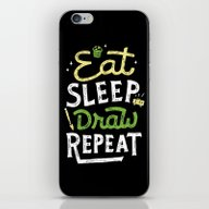 iPhone & iPod Skin featuring Repeat by Skitchism