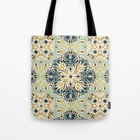 Protea Pattern In Deep T… Tote Bag