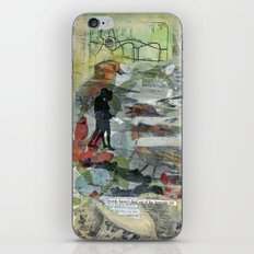 Birds on a Beach with Lovers, Eggs, and Flowers iPhone & iPod Skin