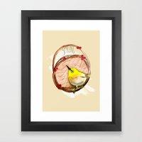 Spring birdy / Nr. 1 Framed Art Print