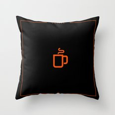 Coffee: The Drink BLACK Throw Pillow