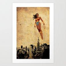 Wonder Women justice league Art Print