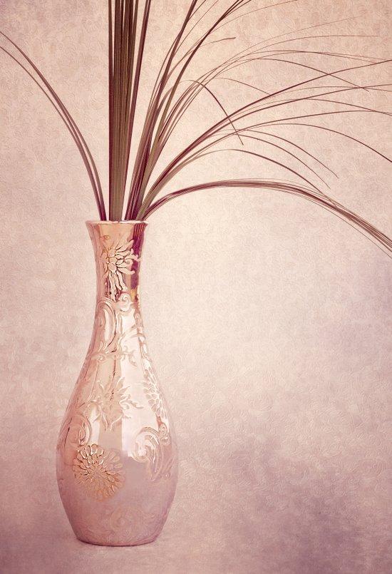 ELEGANCE - Still life with silver vase Art Print