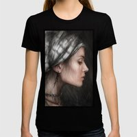 Solitude Womens Fitted Tee Black SMALL