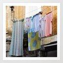 LAUNDRY DAY - Catania - Sicily Art Print