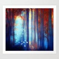 Art Print featuring Dreams In Blue by Viviana Gonzalez