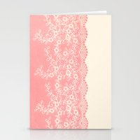 Lace #CoralPink Stationery Cards