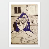 Suicidal Girl Art Print