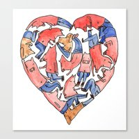 Pray With Love Canvas Print